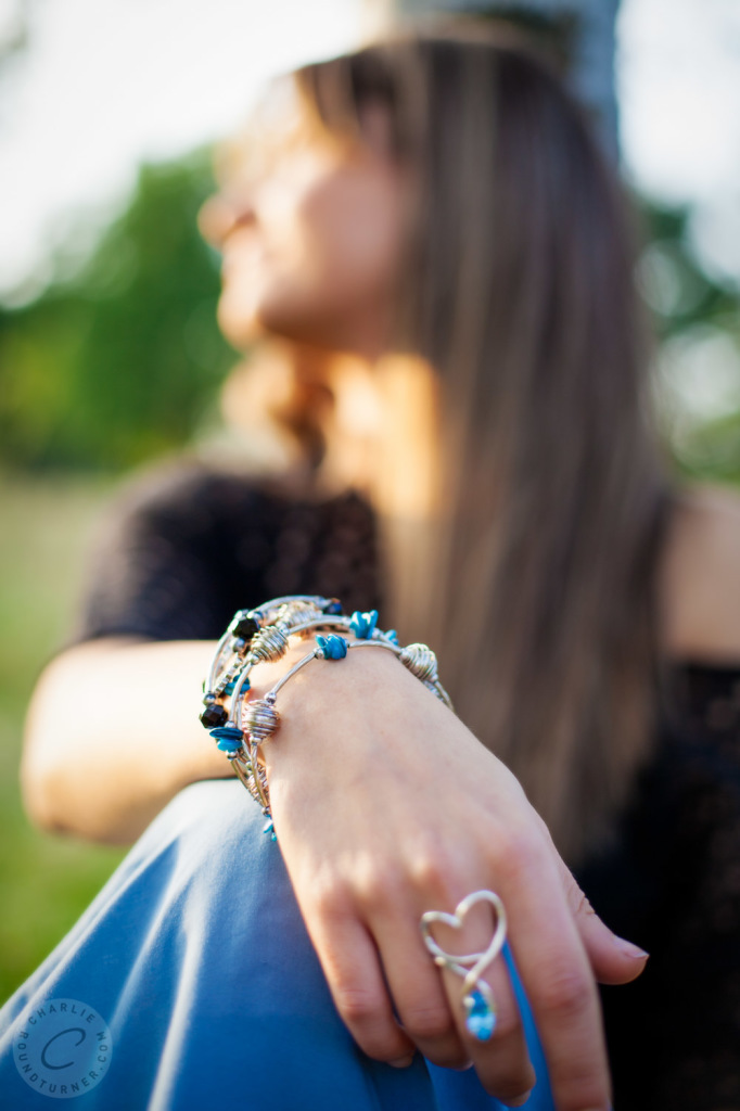 boho style jewellery, lifestyle portrait video
